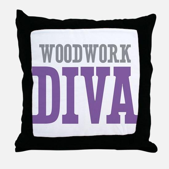 Woodwork DIVA Throw Pillow