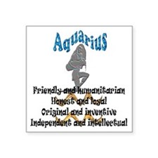 "aquarius Square Sticker 3"" x 3"""