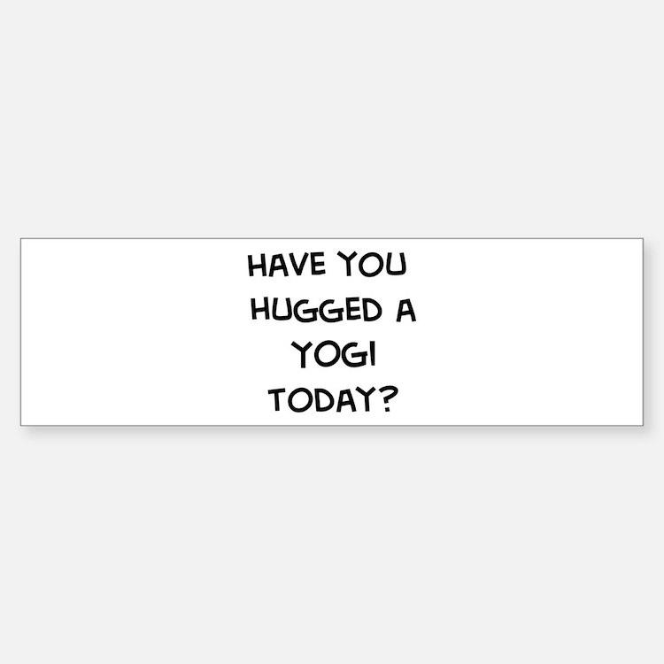 Hugged a Yogi Bumper Bumper Bumper Sticker