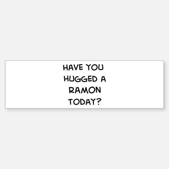 Hugged a Ramon Bumper Bumper Bumper Sticker