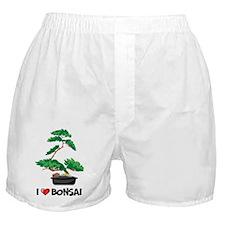 I Love Bonsai Boxer Shorts