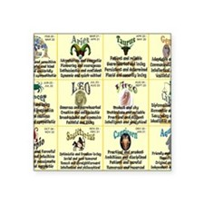 "zodiac-calendar Square Sticker 3"" x 3"""