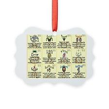zodiac-calendar Ornament