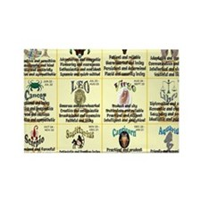 zodiac-calendar Rectangle Magnet