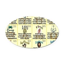 zodiac-calendar Oval Car Magnet