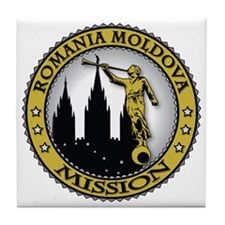 Romania Moldova LDS Mission Angel Mor Tile Coaster