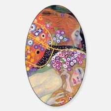 Klimt 14 Sticker (Oval)