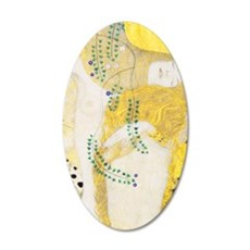 Klimt 15 35x21 Oval Wall Decal