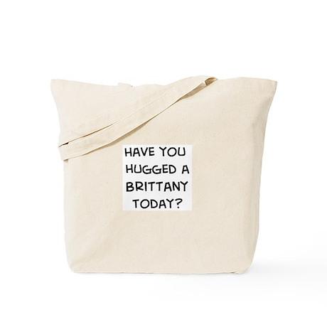 Hugged a Brittany Tote Bag