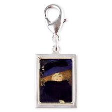Klimt 36 Silver Portrait Charm