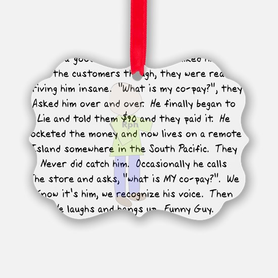 Pharmacist Co Pay 2012 Ornament