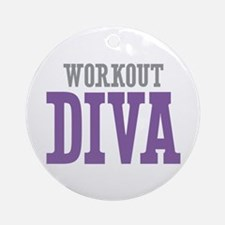 Workout DIVA Ornament (Round)