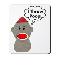 I throw poop 2012 Mousepad
