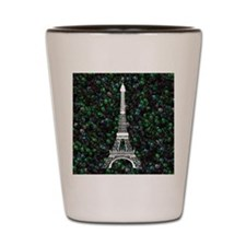Eiffel Tower on Bubbly Shot Glass