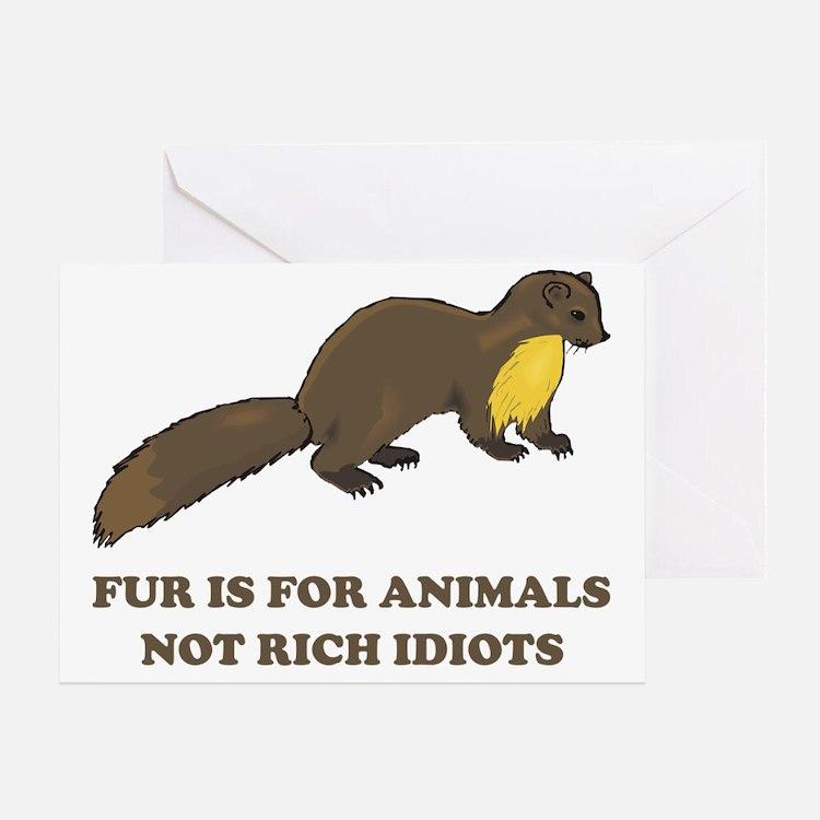 fur Greeting Card