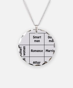 dating Necklace Circle Charm