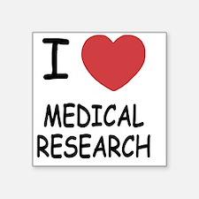 "MEDICAL_RESEARCH Square Sticker 3"" x 3"""