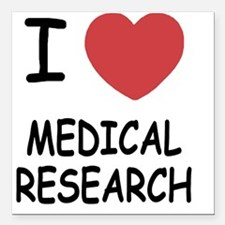 """MEDICAL_RESEARCH Square Car Magnet 3"""" x 3"""""""