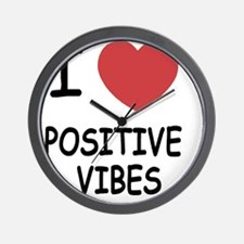 POSITIVE_VIBES Wall Clock
