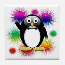 Penguin splash png Tile Coaster