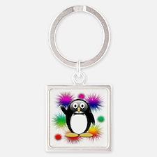 Penguin splash png Square Keychain