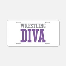 Wrestling DIVA Aluminum License Plate