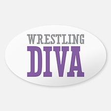 Wrestling DIVA Sticker (Oval)