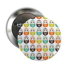 """owlsinarow_pattern_mm_ipad 2.25"""" Button"""