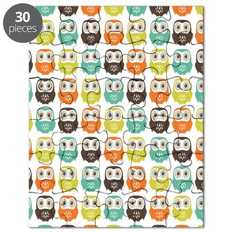 owlsinarow_pattern_mm_ipad Puzzle