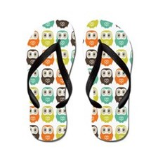 owlsinarow_pattern_mm_ipad Flip Flops