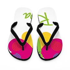Reba-the-butterfly Flip Flops