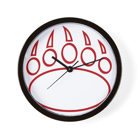 10x10_CGABearPawOrange Wall Clock