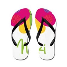 Nikki-the-butterfly Flip Flops