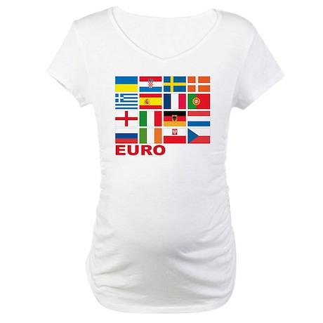 euro 2012(blk) Maternity T-Shirt