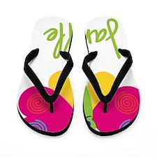 Janelle-the-butterfly Flip Flops