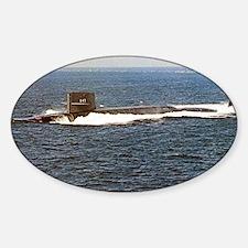 jkpolk ssbn lare framed print Sticker (Oval)
