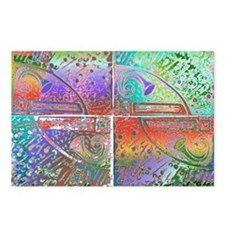 4_tiles_print_copyright Postcards (Package of 8)