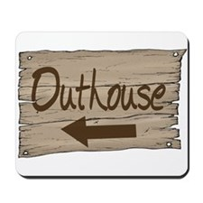 Vintage Outhouse Sign Mousepad
