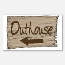 Vintage Outhouse Sign Decal