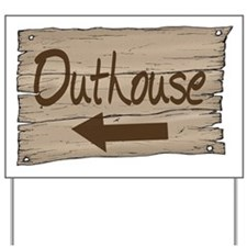Vintage Outhouse Sign Yard Sign