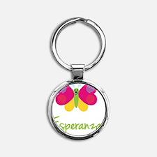 Esperanza-the-butterfly Round Keychain