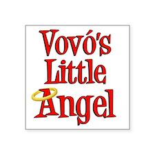 """Vovos Little Angel Square Sticker 3"""" x 3"""""""