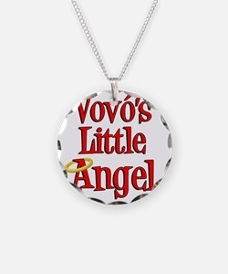 Vovos Little Angel Necklace Circle Charm