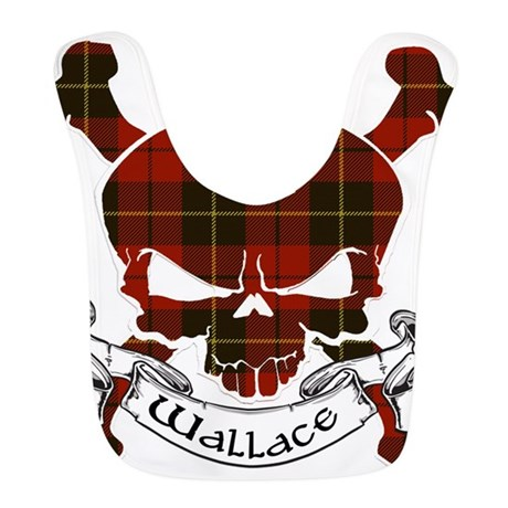 Wallace Tartan Skull Bib By Scottishtartans