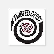 "twisted gypsy Square Sticker 3"" x 3"""