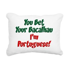 Bet Your Bacalhau Portug Rectangular Canvas Pillow