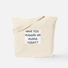 Hugged a Alexia Tote Bag