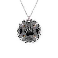 Bear Pride Firefighter Badge Necklace