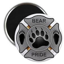 Bear Pride Firefighter Badge Magnet