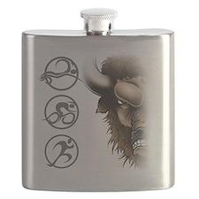 buffalo head glass Flask